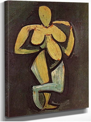 Standing Female Nude 1908 By Pablo Picasso