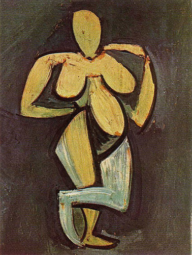 Standing Female Nude 1908 By Pablo Picasso Art Reproduction from Wanford