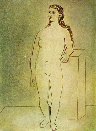 Standing Female Nude 1923 By Pablo Picasso Art Reproduction from Wanford