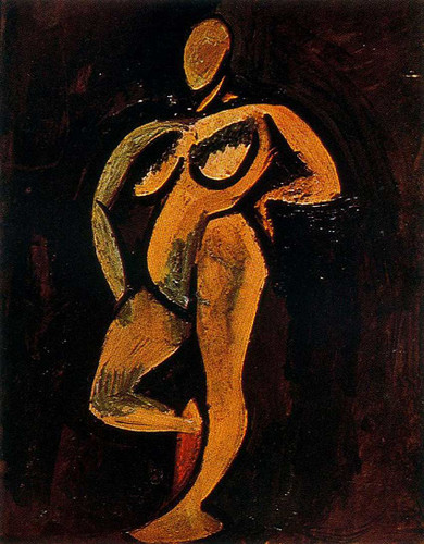 Standing Nude 1908 By Pablo Picasso Art Reproduction from Wanford
