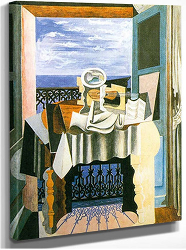 Still Life In Front Of A Window At Saint Rephael By Pablo Picasso