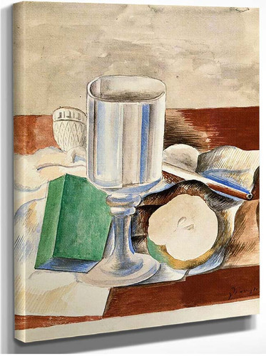 Still Life With Class And An Apple 1914 By Pablo Picasso