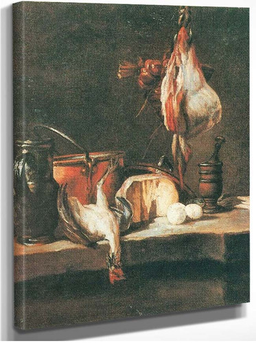 Still Life With Fowl By Jean Baptiste Simeon