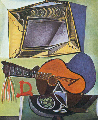 Still Life With Guitar By Pablo Picasso Art Reproduction from Wanford