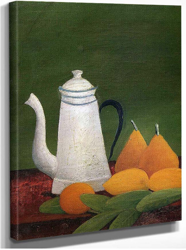 Still Life With Teapot And Fruit By Henri Rousseau