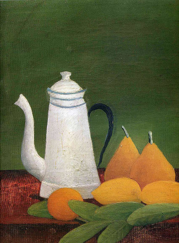 Still Life With Teapot And Fruit By Henri Rousseau Art Reproduction from Wanford