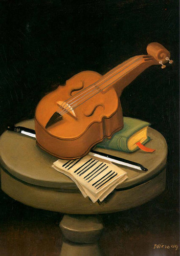 Still Life With Violin3 By Fernando Botero Art Reproduction from Wanford