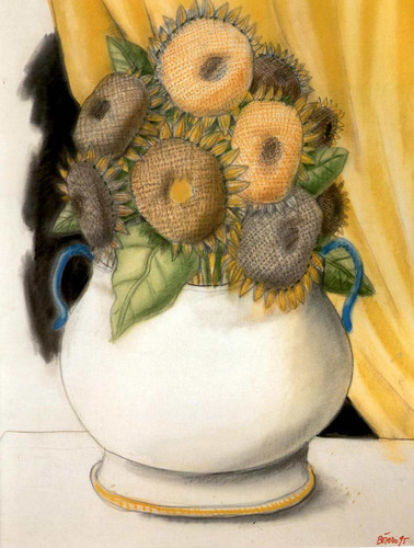 Sunflowers Aka Girasoles By Fernando Botero Art Reproduction from Wanford