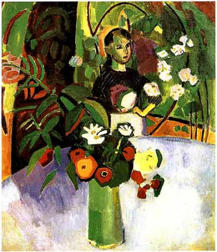Jeanne With Flowers 1907 By Dufy Raoul Art Reproduction from Wanford.