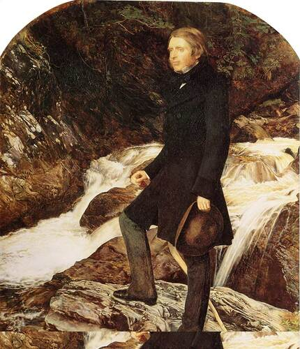 John Ruskin By John Everett Millais Art Reproduction from Wanford.