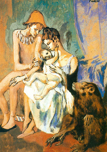 The Acrobats Family With A Monkey By Pablo Picasso Art Reproduction from Wanford