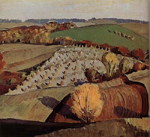 Landscape 1931 By Grant Wood Art Reproduction from Wanford.