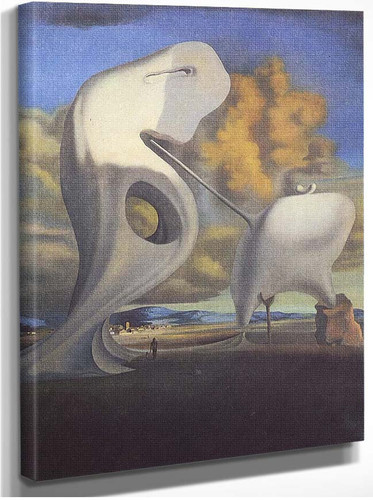 The Architectonic Angelus Of Millet By Salvador Dali