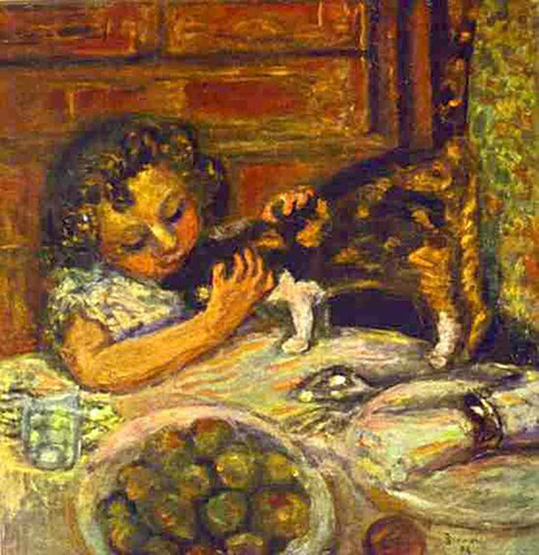 Little Girl With A Cat 1899 By Pierre Bonnard Art Reproduction from Wanford.