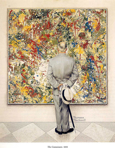 The Connoisseur By Norman Rockwell Art Reproduction from Wanford