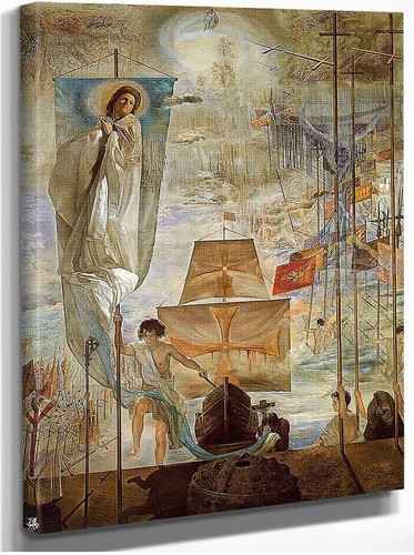 The Discovery Of America By Christopher Columbus 1959 By Salvador Dali