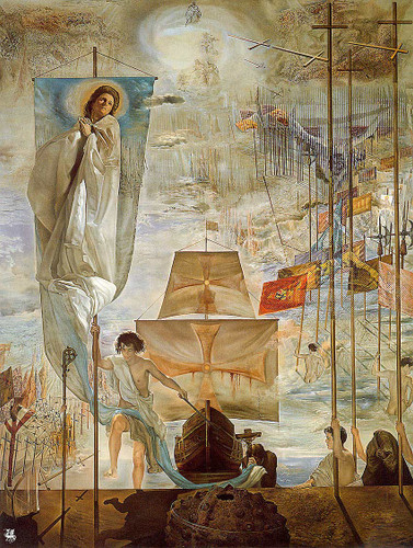 The Discovery Of America By Christopher Columbus 1959 By Salvador Dali Art Reproduction from Wanford