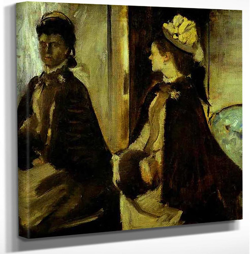 Madame Jeantaud In The Mirror 1875 By Edgar Degas Art Reproduction from Wanford.