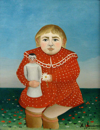 The Girl With A Doll 1905 By Henri Rousseau Art Reproduction from Wanford