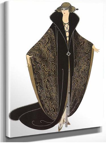 The Golden Cloak By Erte