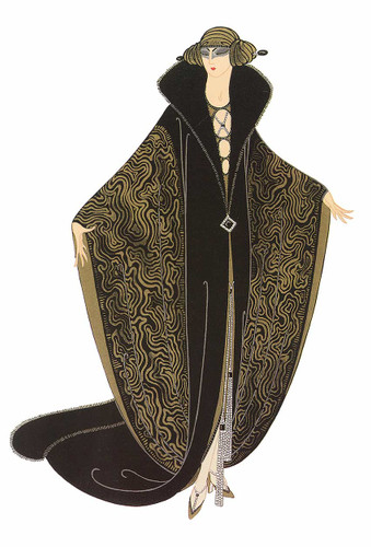 The Golden Cloak By Erte Art Reproduction from Wanford