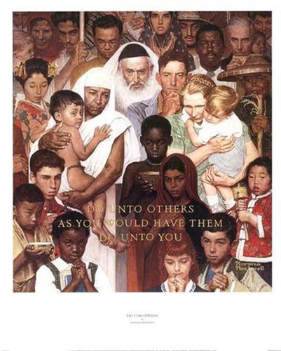 The Golden Rule By Norman Rockwell Art Reproduction from Wanford