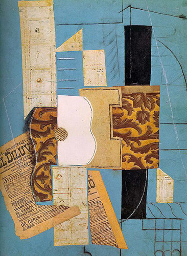 The Guitar 1913 By Pablo Picasso Art Reproduction from Wanford