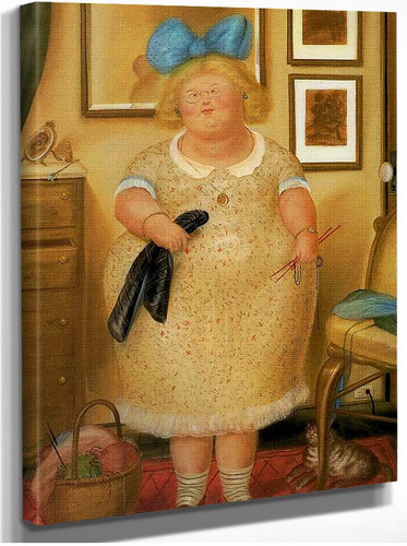 The Old Maid By Fernando Botero