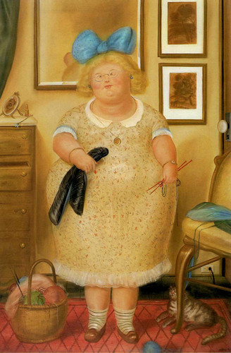 The Old Maid By Fernando Botero Art Reproduction from Wanford