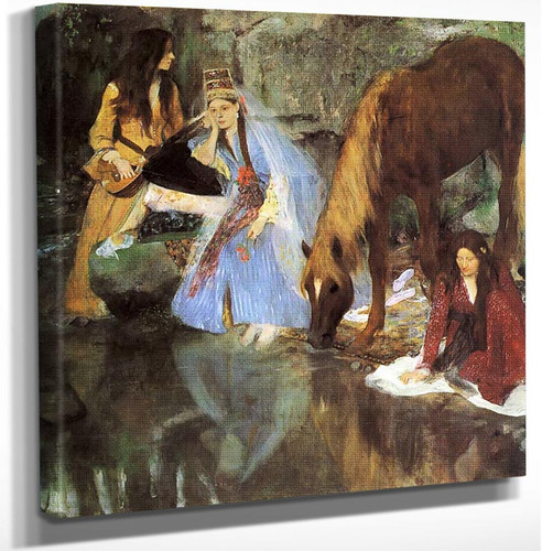 Mlle Fiocre In The Ballet The Source 1868 By Edgar Degas Art Reproduction from Wanford.