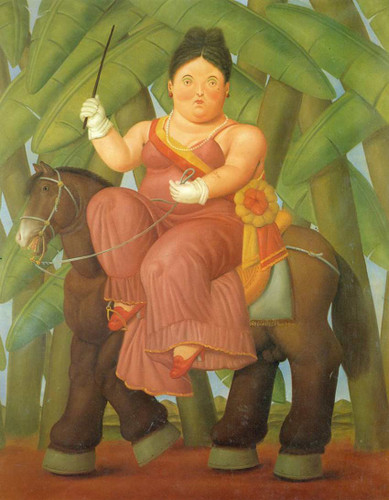 The President And First Lady By Fernando Botero Art Reproduction from Wanford