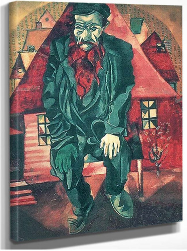 The Red Jew By Marc Chagall
