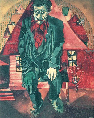The Red Jew By Marc Chagall Art Reproduction from Wanford