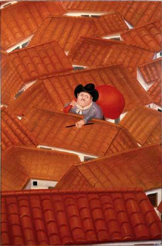 The Thief Aka El Ladron By Fernando Botero Art Reproduction from Wanford
