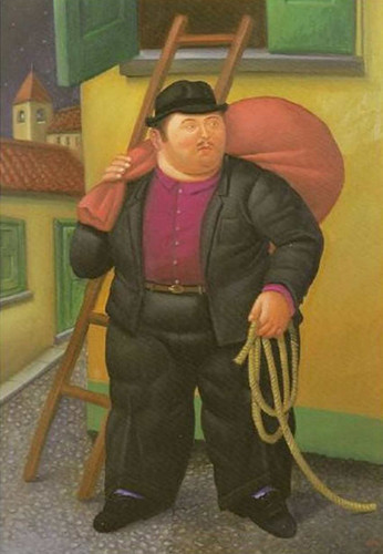 The Thief By Fernando Botero Art Reproduction from Wanford