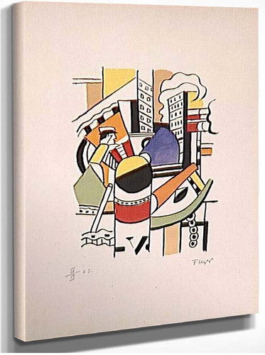 The Tug In The City By Fernand Leger