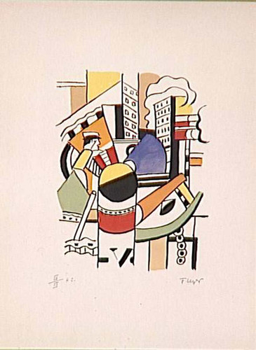 The Tug In The City By Fernand Leger Art Reproduction from Wanford