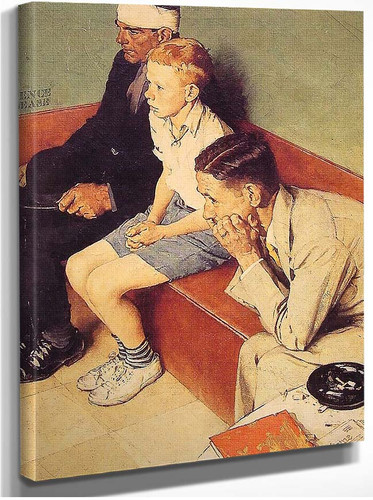 The Waiting Room By Norman Rockwell