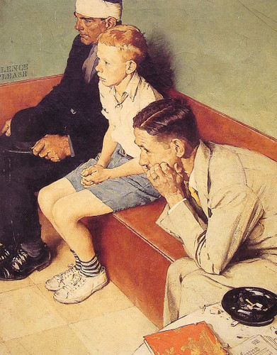 The Waiting Room By Norman Rockwell Art Reproduction from Wanford