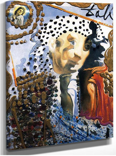 The Whole Dali In A Face By Salvador Dali