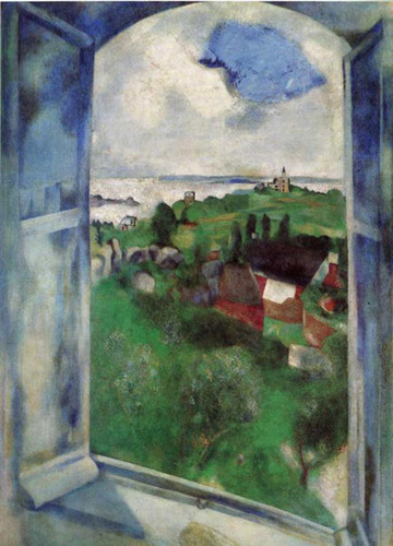 The Window 1924 By Marc Chagall Art Reproduction from Wanford