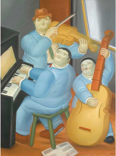 Three Musicians2 By Fernando Botero Art Reproduction from Wanford
