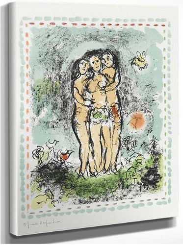 Three Nudes 1984 By Marc Chagall