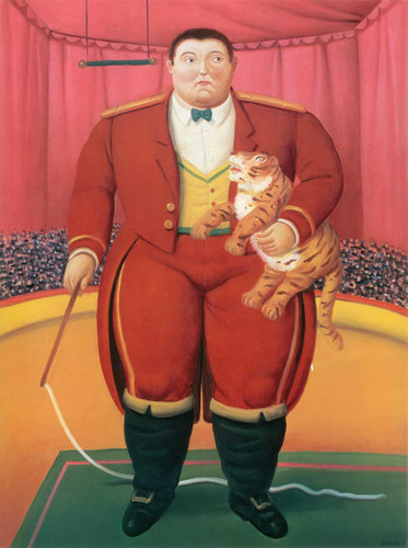 Trainer With Baby Tiger By Fernando Botero