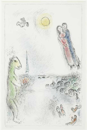 Two Banks 1980 By Marc Chagall Art Reproduction from Wanford