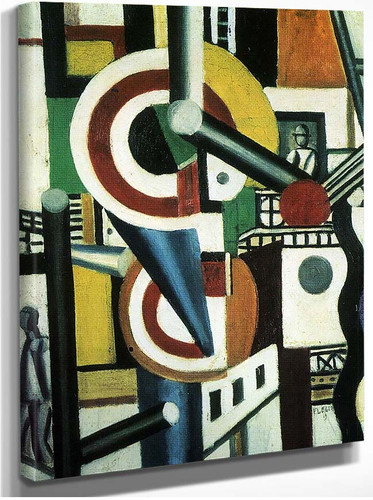 Two Discs In The City 1918 By Fernand Leger