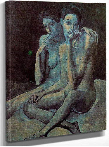 Two Friends 1904 By Pablo Picasso