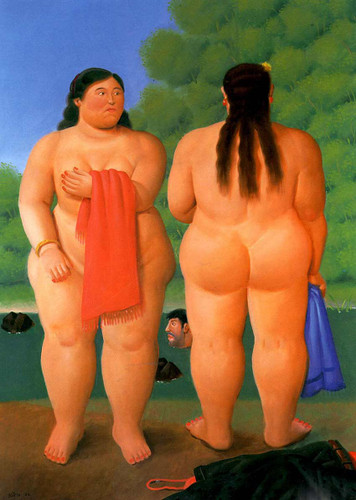 Two Women By Fernando Botero Art Reproduction from Wanford