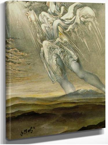 Untitled Surrealist Angel By Salvador Dali