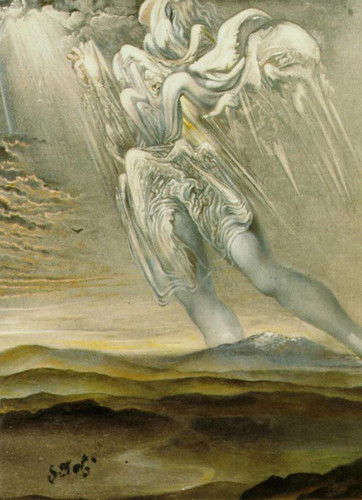 Untitled Surrealist Angel By Salvador Dali Art Reproduction from Wanford